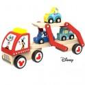 Hračka Derrson Disney Dřevěný Goofyho tahač s autíčky