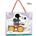 Hračka DERRSON Disney Dřevěný tahací Mickey Mouse