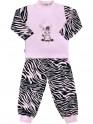 Dětské bavlněné pyžamo New Baby Zebra s balónkem růžové 122 (6-7 let)