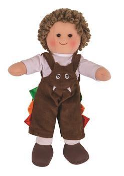 Panenka Bigjigs Toys látkový Jack, 28 cm