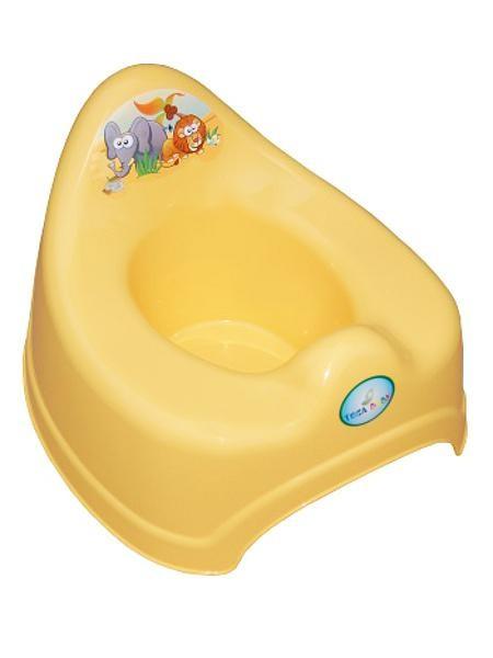 Hrající dětský nočník safari žlutý