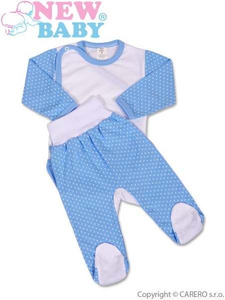 2-dílná souprava New Baby Puntík modrá 56 (0-3m)