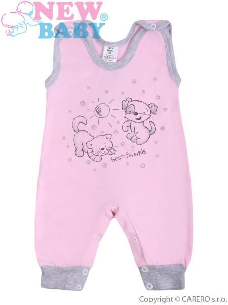 Kojenecké dupačky New Baby Kamarádi růžové 86 (12-18m)