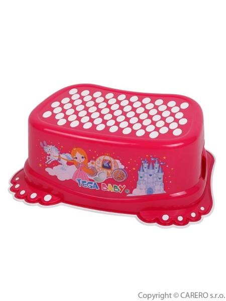 Dětské protiskluzové stupátko do koupelny Malá Princezna růžové