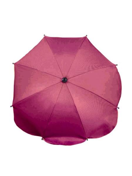 Levně Slunečník na kočárek růžovo-fialový