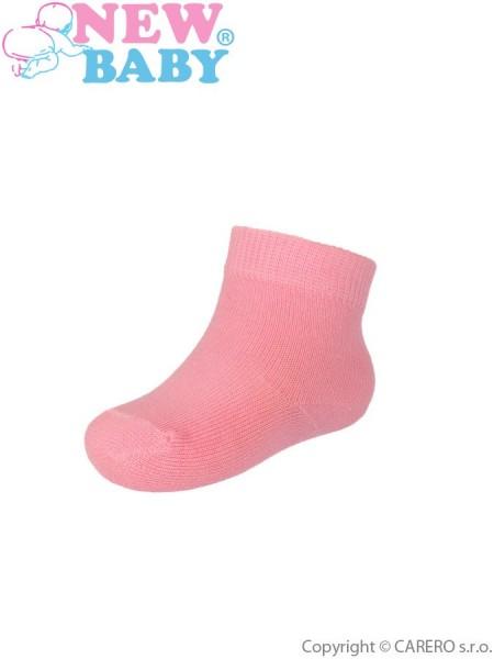 Kojenecké bavlněné ponožky New Baby růžové 62 (3-6m)