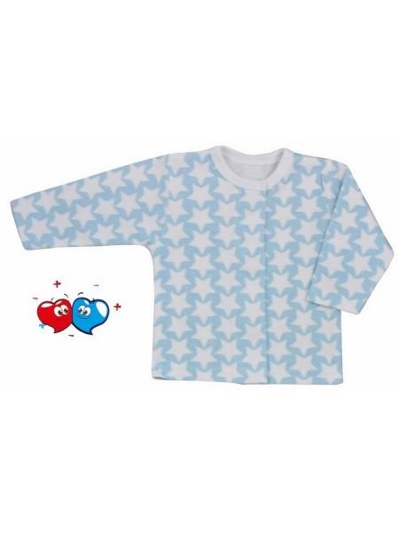 Kojenecký kabátek Koala Magnetky modrý s hvězdičkami 68 (4-6m)