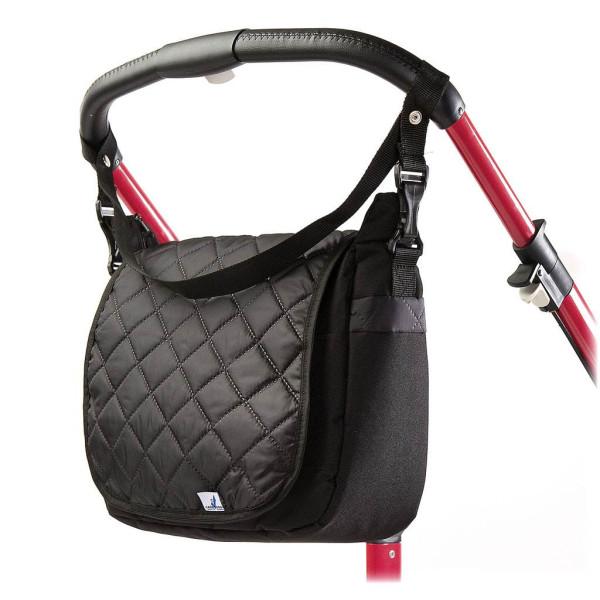 Levně Prošívaná taška na kočárek CARETERO black
