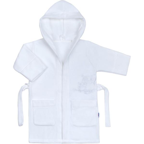 Dětský župan New Baby Sovičky bílý 98 (2-3r)