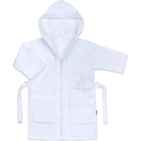 Dětský župan New Baby Sovičky bílý 110 (4-5r)