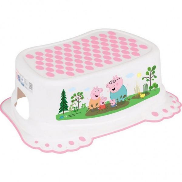 Dětské protiskluzové stupátko do koupelny Peppa Pig white-pink
