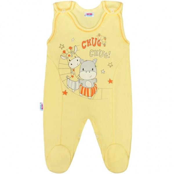 Kojenecké dupačky New Baby chug žluté 74 (6-9m)