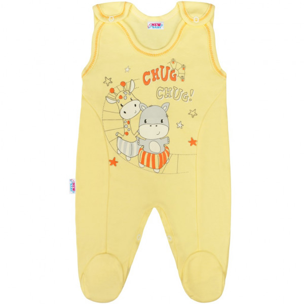 Kojenecké dupačky New Baby chug žluté 80 (9-12m)