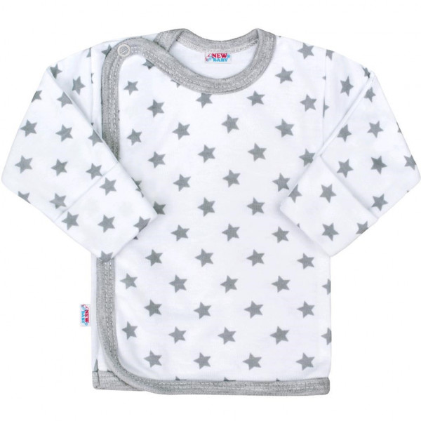 Kojenecká košilka New Baby Classic II šedá s hvězdičkami 56 (0-3m)
