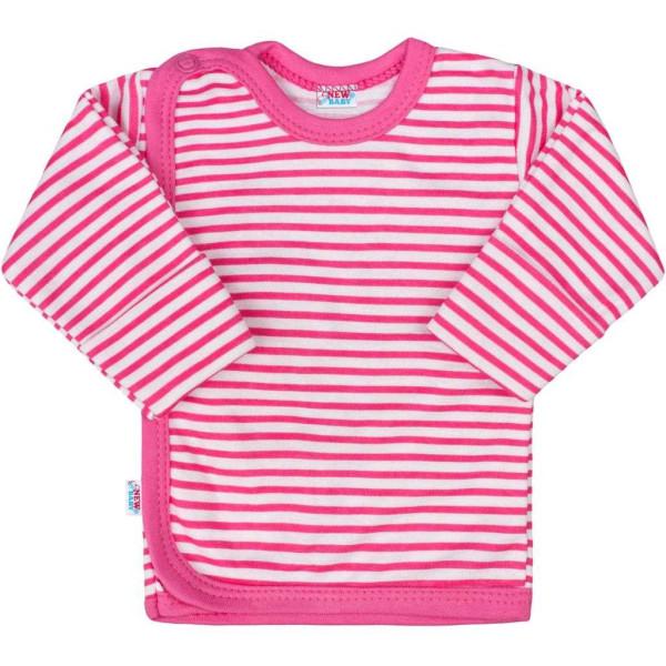 Kojenecká košilka New Baby Classic II s růžovými pruhy 56 (0-3m)