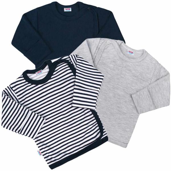 Kojenecká košilka New Baby Classic II Kluk 3ks 56 (0-3m)