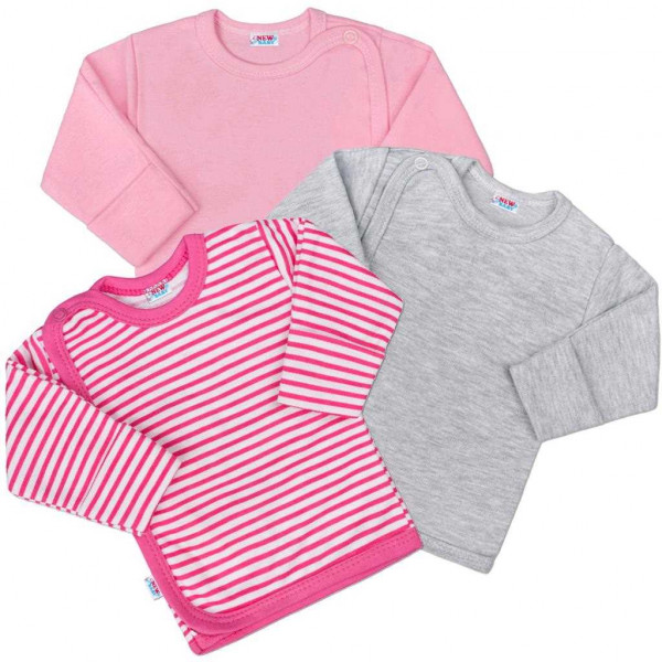 Kojenecká košilka New Baby Classic II Holka 3ks 56 (0-3m)