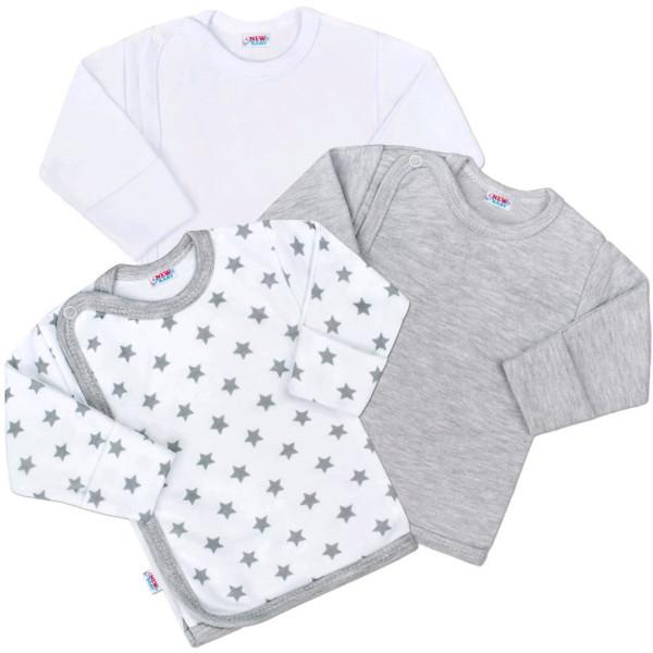 Kojenecká košilka New Baby Classic II Uni 3ks 56 (0-3m)