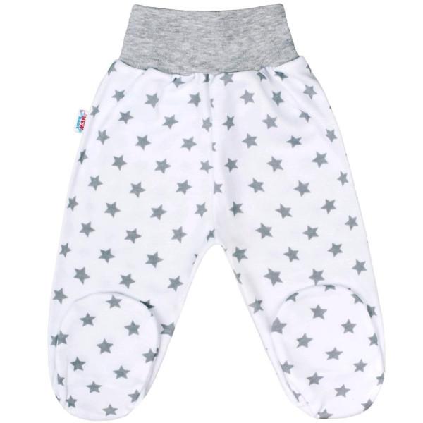 Kojenecké polodupačky New Baby Classic II šedé s hvězdičkami 56 (0-3m)