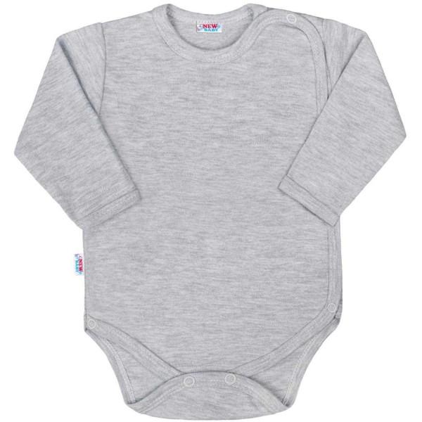 Kojenecké celorozepínací body New Baby Classic II šedé 56 (0-3m)