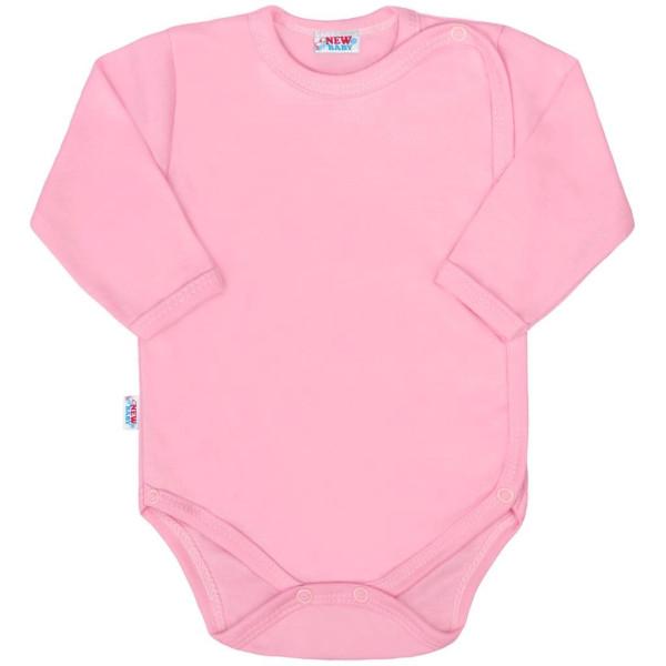 Kojenecké celorozepínací body New Baby Classic II růžové 56 (0-3m)