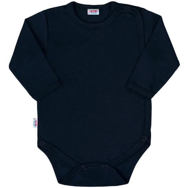 Kojenecké celorozepínací body New Baby Classic II tmavě modré 56 (0-3m)