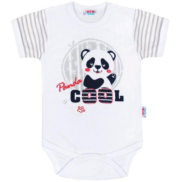 Kojenecké body s krátkým rukávem New Baby Panda 74 (6-9m)