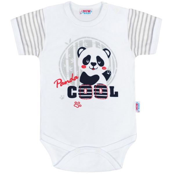 Kojenecké body s krátkým rukávem New Baby Panda 86 (12-18 m)