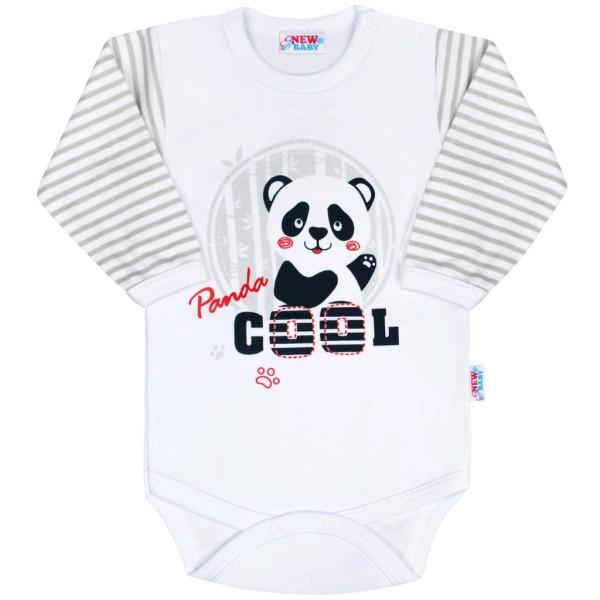 Kojenecké body s dlouhým rukávem New Baby Panda 62 (3-6m)