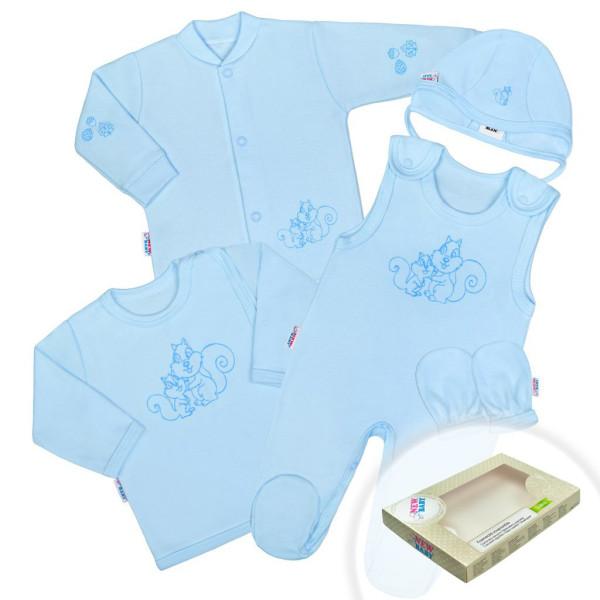 5-dílná soupravička New Baby Veverky modrá 62 (3-6m)