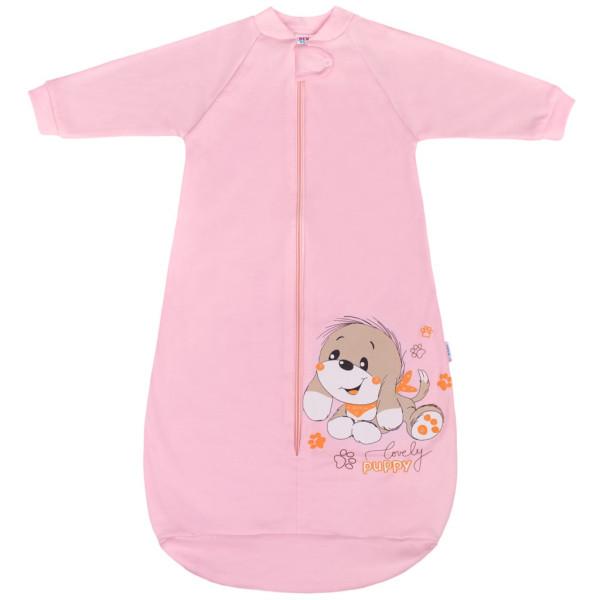 Kojenecký spací pytel New Baby pejsek růžový 62 (3-6m)