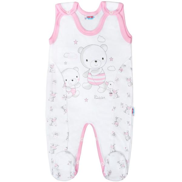 Kojenecké dupačky New Baby Bears růžové 50