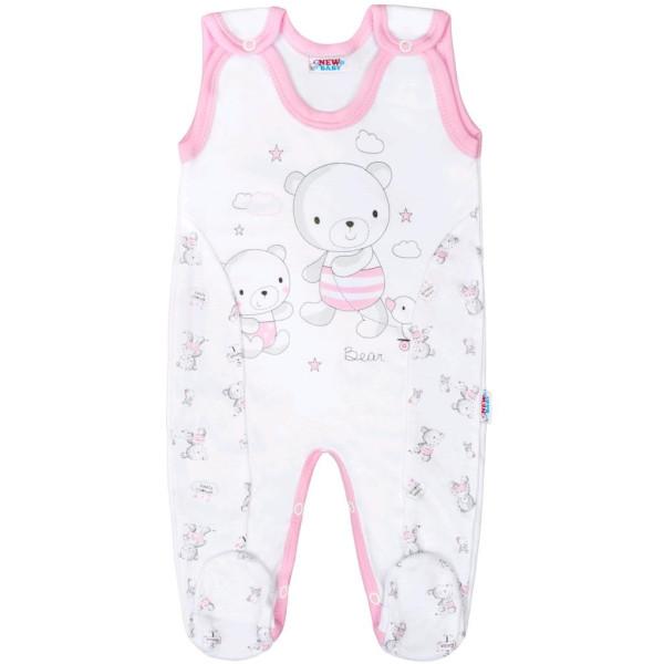 Kojenecké dupačky New Baby Bears růžové 74 (6-9m)