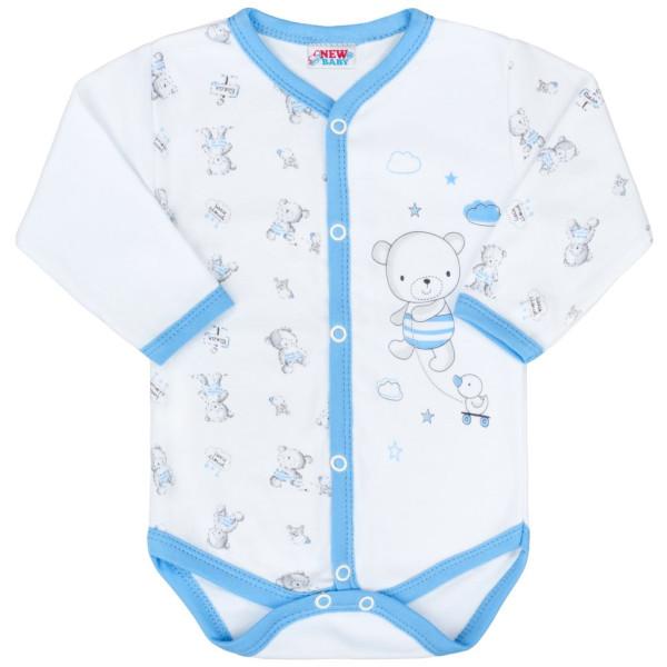 Kojenecké celorozepínací body New Baby Bears modré 56 (0-3m)