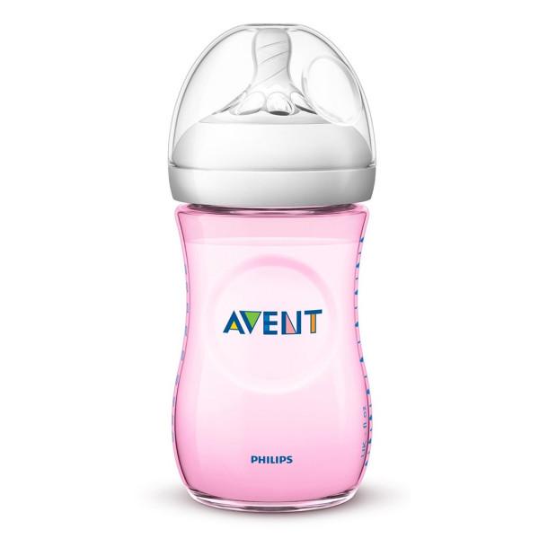 Kojenecká láhev Avent Natural 260 ml růžová