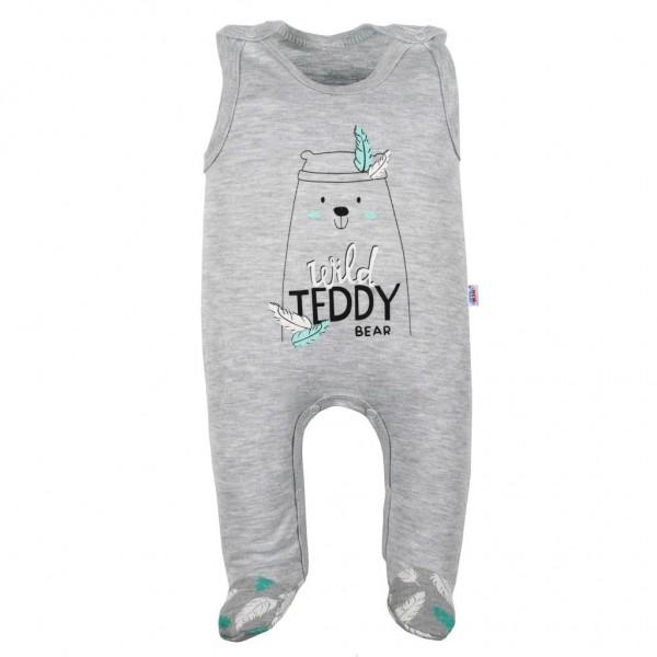 Kojenecké bavlněné dupačky New Baby Wild Teddy 62 (3-6m)