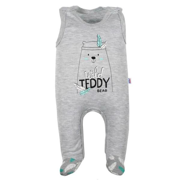 Kojenecké bavlněné dupačky New Baby Wild Teddy 80 (9-12m)
