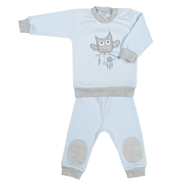 2-dílná kojenecká souprava New Baby Owl modrá 56 (0-3m)