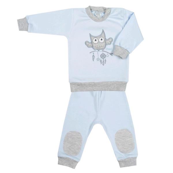 2-dílná kojenecká souprava New Baby Owl modrá 80 (9-12m)