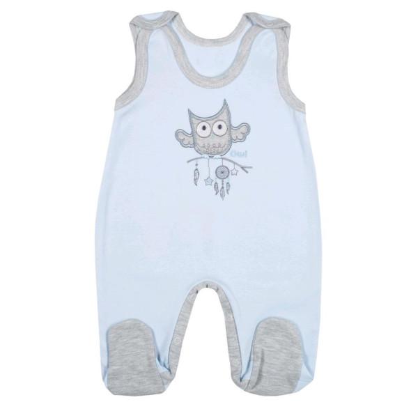 Kojenecké dupačky New Baby Owl modré 74 (6-9m)