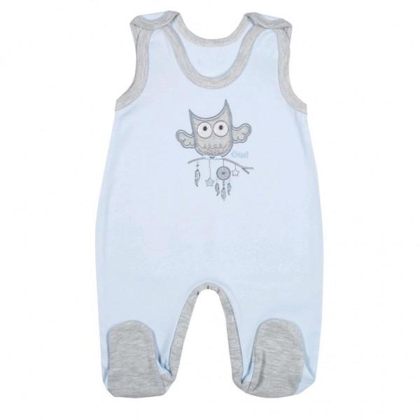 Kojenecké dupačky New Baby Owl modré 80 (9-12m)