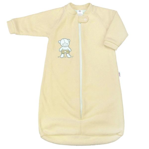 Kojenecký froté spací pytel New Baby medvídek žlutý 62 (3-6m)