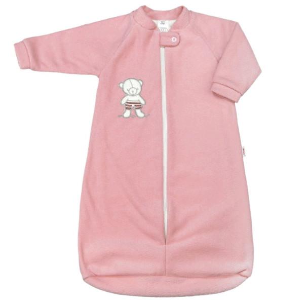 Kojenecký froté spací pytel New Baby medvídek růžový 68 (4-6m)