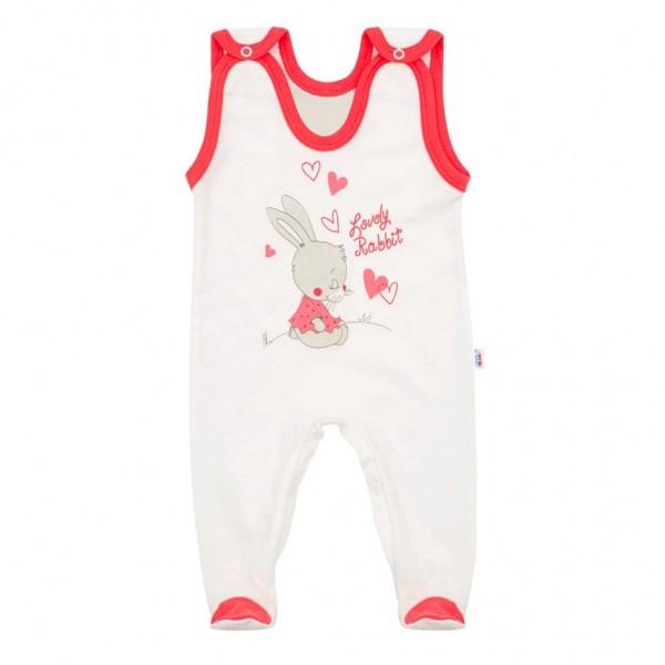 Dětské dupačky New Baby Lovely Rabbit růžové 74 (6-9m)