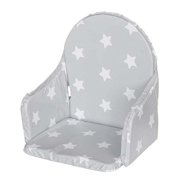 Vložka do jídelní židličky New Baby Victory šedá hvězdičky