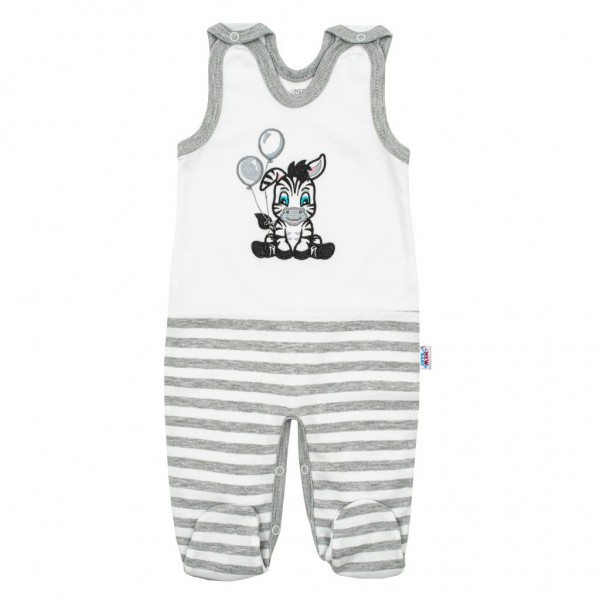 Kojenecké bavlněné dupačky New Baby Zebra exclusive 56 (0-3m)
