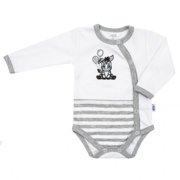 Kojenecké bavlněné celorozepínací body New Baby Zebra exclusive 62 (3-6m)