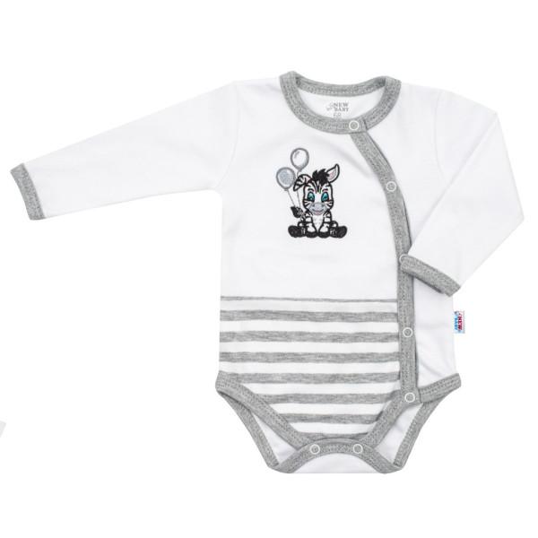 Kojenecké bavlněné celorozepínací body New Baby Zebra exclusive 68 (4-6m)