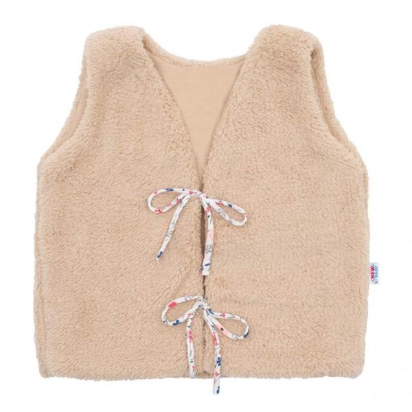 Dívčí bavlněná chlupatá vesta New Baby For Girls 80 (9-12m)