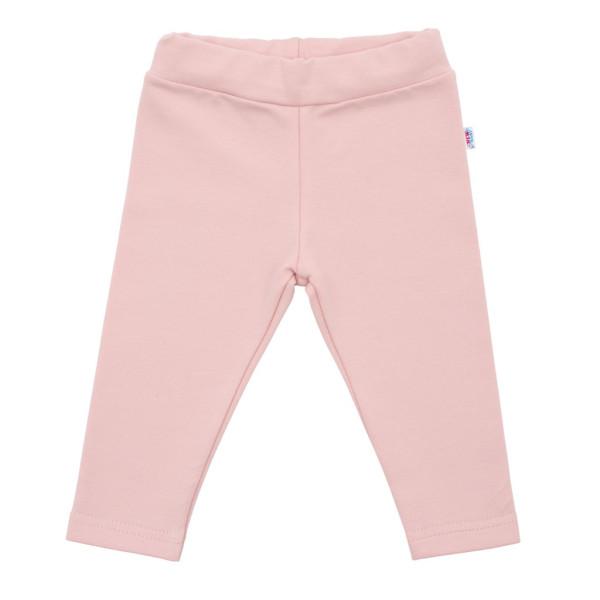 Kojenecké bavlněné legíny New Baby Leggings světle růžové 56 (0-3m)